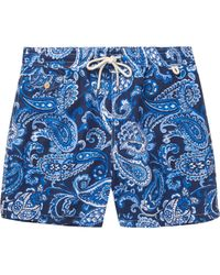 Polo Ralph Lauren | Blue Mid-length Paisley-print Swim Shorts for Men | Lyst