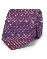 Turnbull & Asser | Purple 8cm Silk-jacquard Tie for Men | Lyst