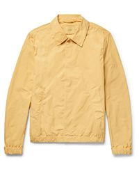 Saturdays NYC - Yellow Cooper Brushed-shell Coach Jacket for Men - Lyst