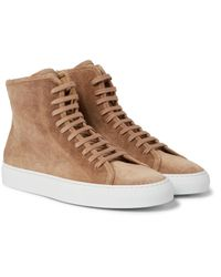 2fc7e432f0c6 Lyst - Common Projects Tournament Waxed-suede High-top Sneakers in ...