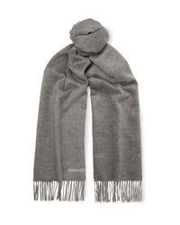 Ermenegildo Zegna - Gray Reversible Silk Scarf for Men - Lyst