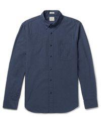 J.Crew - Blue Secret Wash Button-down Collar Cotton-poplin Shirt for Men - Lyst