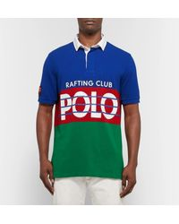 Polo Ralph Lauren - Blue High Tech Logo-print Cotton-piqué Polo Shirt for Men - Lyst