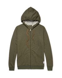 Paul Smith - Green Mélange Cotton-jersey Zip-up Hoodie for Men - Lyst