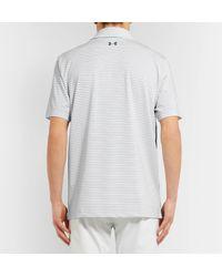 Under Armour - White Playoff Striped Heatgear Golf Polo Shirt for Men - Lyst