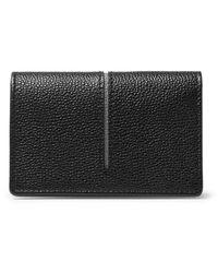 Tod's - Black Pebble-grain Leather Cardholder for Men - Lyst