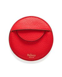 Mulberry - Red Round Coin Pouch - Lyst