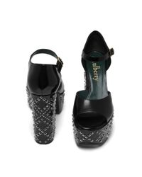 Mulberry   Black Platform Mary-jane Sandal   Lyst