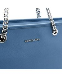 MICHAEL Michael Kors - Blue Women's Jet Set Travel Chain Top Zip Tote Bag - Lyst