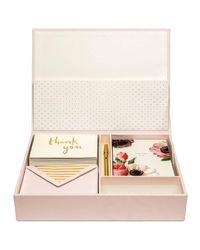 Kate Spade - Multicolor Bridal Thank You Kit With Keepsake Box - Lyst