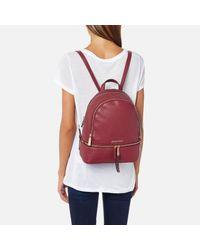 MICHAEL Michael Kors | Red Rhea Zip Medium Backpack | Lyst