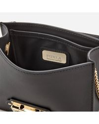 Furla Black Metropolis Arabesque Mini Cross Body Bag
