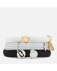 Marc Jacobs - Metallic Mj Double Cut Out Pony Bracelet - Lyst