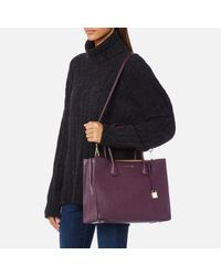 MICHAEL Michael Kors - Purple Mercer Large Tote Bag - Lyst