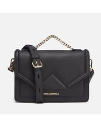 Karl Lagerfeld - Black Women's K/klassik Shoulder Bag - Lyst