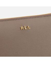 Lauren by Ralph Lauren - Brown Tate Zip Wallet - Lyst
