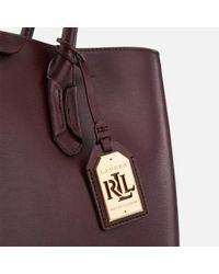 Lauren by Ralph Lauren - Purple Tate City Tote Bag - Lyst