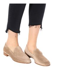 Gianvito Rossi - Natural Marcel Suede Loafers - Lyst