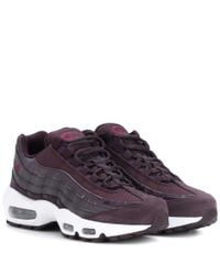 Nike - Purple Air Max 95 Leather Sneakers - Lyst