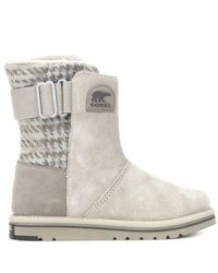 Sorel - Gray Newbie Suede Ankle Boots - Lyst