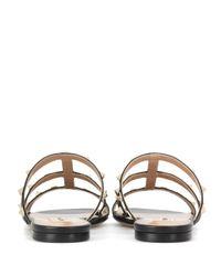 Valentino - Black Rockstud Leather Sandals - Lyst