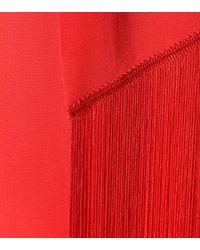 Stella McCartney - Red Fringed Crêpe Dress - Lyst