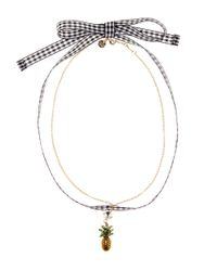 Miu Miu - Metallic Embellished Pineapple Choker - Lyst