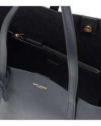 Saint Laurent - Black Large Leather Shopper - Lyst