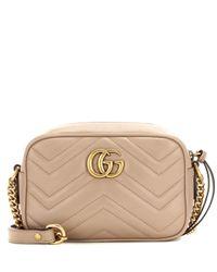 Gucci - Natural GG Marmont Mini Matelassé Leather Crossbody Bag - Lyst
