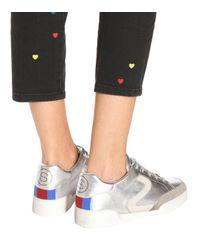 Stella McCartney - Metallic Stella Faux Leather Sneakers - Lyst
