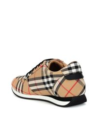 Burberry - Multicolor Amelia Check Sneakers - Lyst