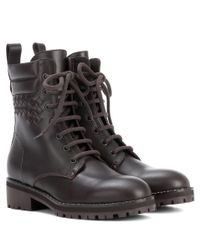 Bottega Veneta - Brown Leather Ankle Boots - Lyst