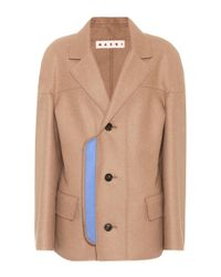 Marni - Natural Wool-blend Coat - Lyst