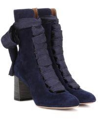 Chloé - Black Chloé 'harper' Ankle Boots - Lyst