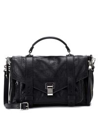 Proenza Schouler - Black Ps1+ Medium Leather Shoulder Bag - Lyst