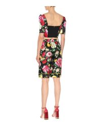 Dolce & Gabbana - Multicolor Floral-printed Silk Shorts - Lyst