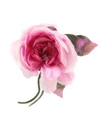 Gucci - Pink Silk Flower Brooch - Lyst
