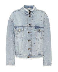 Alexandre Vauthier - Blue Crystal-embellished Denim Jacket - Lyst