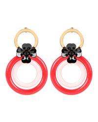 Marni - Red Hoop Earrings - Lyst