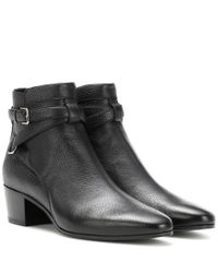 Saint Laurent - Black Blake 40 Jodhpur Leather Ankle Boots - Lyst