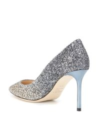 Jimmy Choo - Metallic Exclusive To Mytheresa – Romy 85 Glitter Pumps - Lyst