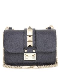 Valentino - Gray Lock Mini Leather Shoulder Bag - Lyst