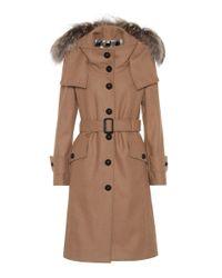 Burberry - Natural Claybrooke Wool-blend Coat - Lyst