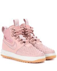 Nike - Pink Lunar Force 1 Duckboot Sneakers - Lyst