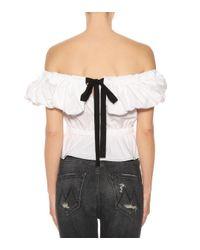 Rejina Pyo - White Mina Off-the-shoulder Cotton Top - Lyst