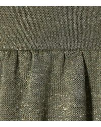 AlexaChung - Green Metallic Knit Maxi Dress - Lyst