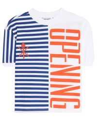 Opening Ceremony - White Striped Stretch Logo Top - Lyst