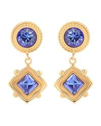 Dolce & Gabbana - Blue Crystal Clip-on Earrings - Lyst