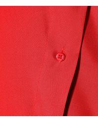 Valentino - Red Silk Midi Dress - Lyst