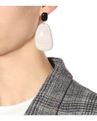 Isabel Marant - White Ceramic Earrings - Lyst